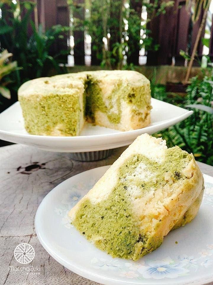 Matcha Mable Cake เค้กมาเบิลชาเขียว