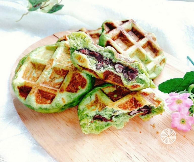 Matcha Belgium Waffle เบลเยียมวาฟเฟิลชาเขียว
