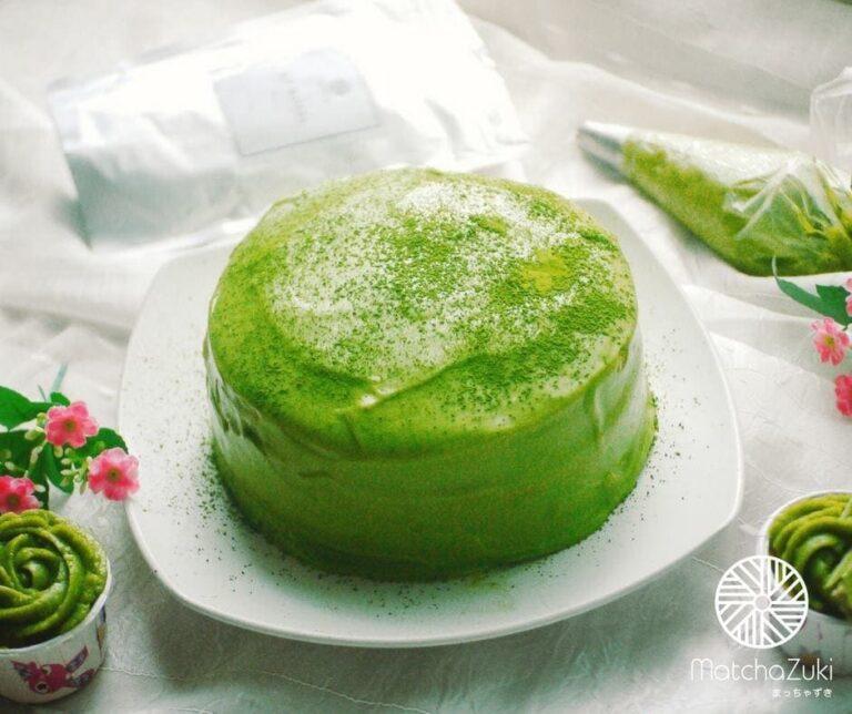 Matcha Cake with Soft Ganache