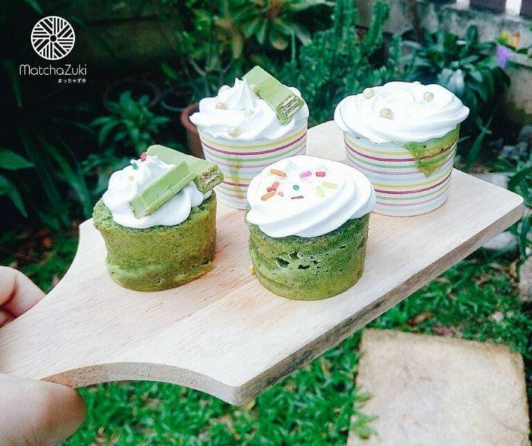 Matcha Cupcakes คัพเค้กชาเขียว