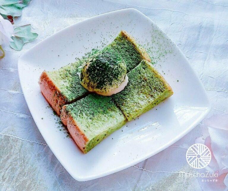 Matcha Toast ขนมปังท็อปปิ้งชาเขียว