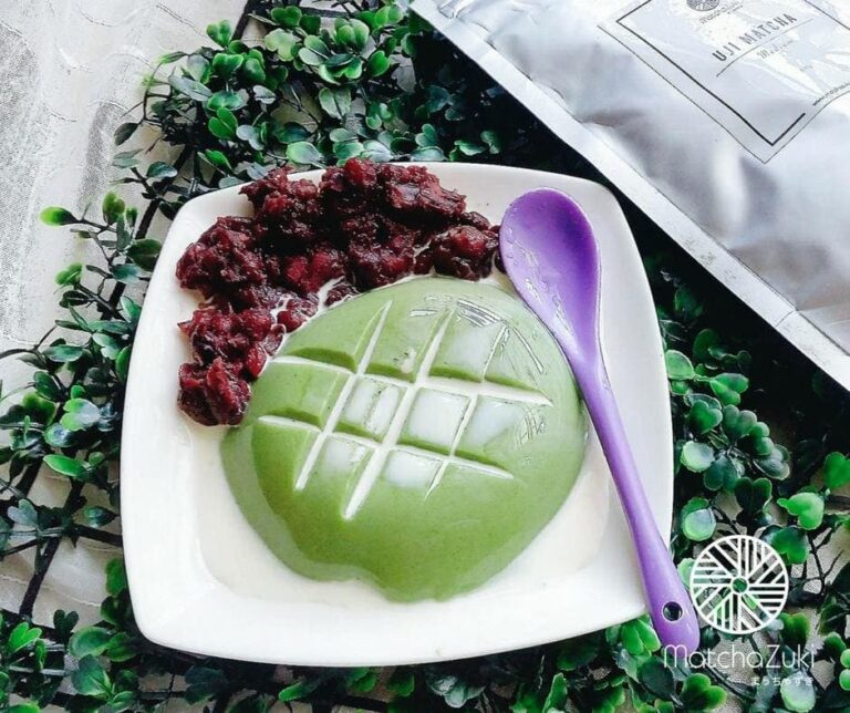 Matcha Tofu Pudding เต้าหู้เย็นชาเขียว