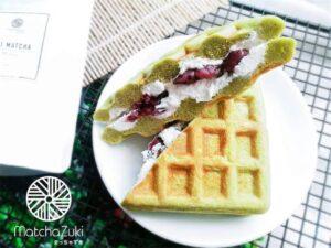 Waffle Cake with Anko Whipping Cream