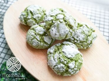 Matcha Crinkle Cookies