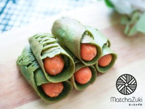 matcha crepe roll
