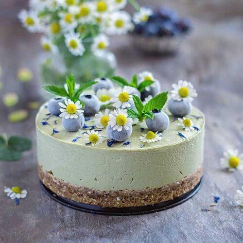 No Bake Chocolate Matcha Cheesecake