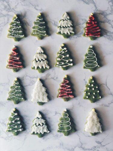 Matcha Cookie Christmas Tree