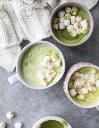 Matcha-Honey Hot Chocolate