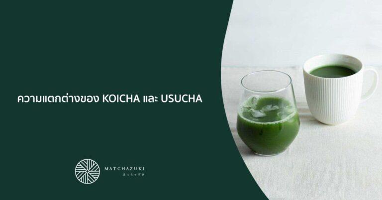 ความแตกต่างของ KOICHA และ USUCHA