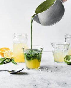 fruity matcha drinks